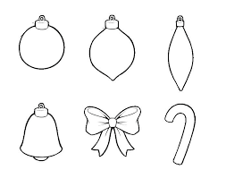 Free Coloring Pages Christmas Ornaments Colouring Decorations Tree