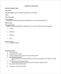 9+ Sample Preschool Lesson Plans | Sample Templates