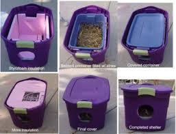 outdoor feral cat shelter diy