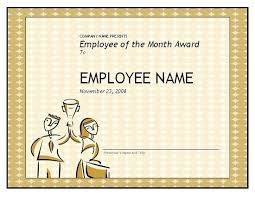 Employee Of The Month Template With Photo Employee Month Certificate Template Of The With Picture