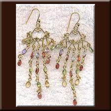 long multi gemstone bohemian chandelier earrings gold vermeil garnet blue topaz citrine amethyst and peridot