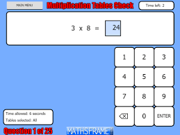 Multiplication Tables Check Mathsframe