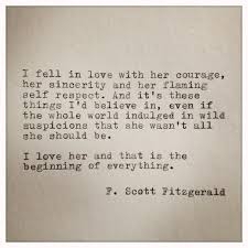 F Scott Fitzgerald Love Quote F Scott Fitzgerald Typewriter Quote on LOVE handtyped quote 16