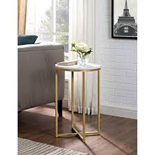 impressive gold round side table b2128271 white and gold side table target