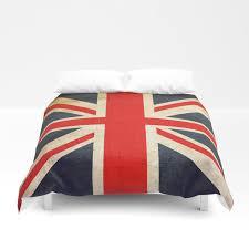 vintage union jack british flag duvet cover
