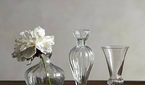 bud vase set attractive glass eclectic of 3 pottery barn with lillian elegant rippled pertaining to pottery barn vases