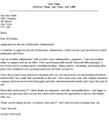 Collection Of Solutions Education Administrator Cover Letter Example