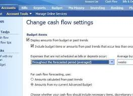 Microsoft Cash Flow Changing The Cash Flow From Trended To Budget Items Microsoft