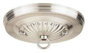 traditional canopy kit with center hole brushed nickel finish 4 pack