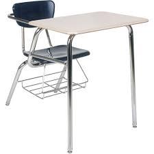 marvelous school desk chair combo 3000 series combo school desk w book rack virco schoolsin