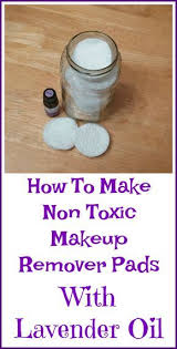 easy non toxic recipe for makeup remover pads with lavender essential oil