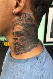Tattoo Uploaded By Beezy2279 Zeus Neck Piece 723350 Tattoodo