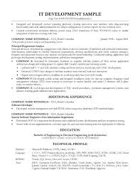 Lead Engineer Sample Resume 4 Software Development Example