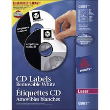 Avery Labels Dvd Avery Removable Laser Cd Dvd Label Ave05931 50 Pack White