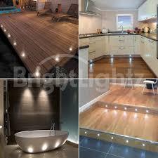 outdoor led deck lights. set of 10 led deck lights / decking plinth kitchen lighting - white outdoor led
