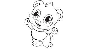 Small Picture Learning Friends Panda coloring printable