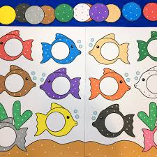colored fish printables. Interesting Fish Fish Color Match For Preschool And Kindergarten In Colored Fish Printables