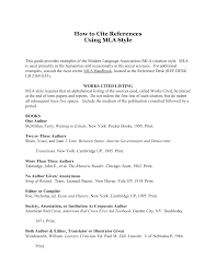 How To Cite References Using Mla Style