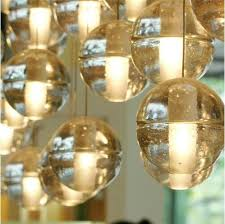 bocci led crystal glass ball pendant lamp meteor rain ceiling light meteoric shower stair light droplight