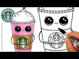 cute starbucks drawing.  Starbucks How To Draw A Starbucks Frappuccino Cute Stepstep Cartoon Drink Regarding  Drawings With Drawing