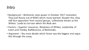 reasons why the reds won the russian civil war intro background 2 intro background
