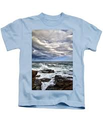 Tide Chart Thunder Hole Maine Thunder Hole Kids T Shirt
