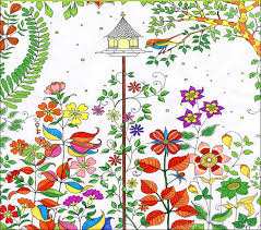 whole 50pcs secret garden drawing color book an inky trere hunt children relieve stress kill
