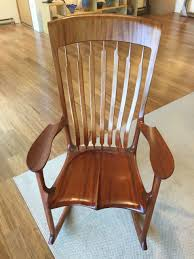 Myrtle Wood Rocker Rocking Chair by Jim Norris   Wilcox Gallery