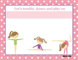 Free Printable Gymnastics Birthday Invitations Updated