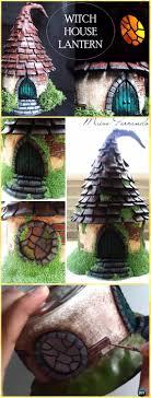 diy polymer clay mason jar witch house lantern tutorial vo diy fairy light projects