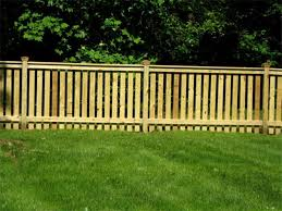 image of wood picket fence for
