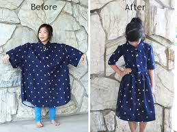 men s xl shirt into a girl s dress diy