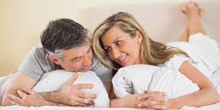 Lovely Couple In Bed Lying In Bedroom How To Have The Best Sex Of Your Life During Menopause Huffpost