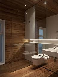 Badezimmer Holzwand