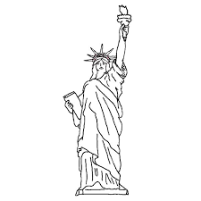 Small Picture Statue of Liberty Picture Coloring Page Download Print Online