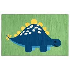 green kids rug play day dinosaur