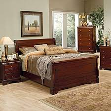 mahogany sleigh bed. Fine Bed Coaster Queen Size Sleigh Bed Louis Philippe Style In Mahogany Finish Intended