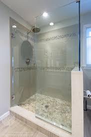shower stalls. Glass Shower Stall River Rocks Frameless Tiled Design Builders And Remodeling Inc. Stalls
