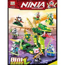 Giá bán Đồ chơi lắp ráp Non lego Ninjago season phần 12 Ninja xếp hình rắn  xanh lá cây khổng lồ PRCK 61039 trọn bộ 8 hộp