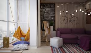 track lighting for art. Marvelous Teen Girl Room Design With Cool Track Lighting And Lovely Purple Fabric Corner Sofa On Colorful Stripes Rugs Also Attractive Art Wall Decor For