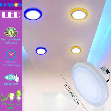 Đèn Led ốp trần tròn 24w ( 18w +6w) ốp nổi 2 màu 3 chế độ s trắng+viền s  màu Posson LP-Ro18+6x, Giá tháng 10/2020