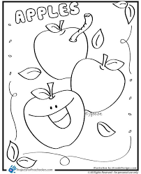 A Is For Apple Coloring Page Apples Preschool Apple