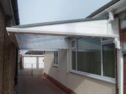 back door canopy glass canopy