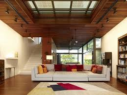Open Family Living Room With Wooden Ceiling Ideas