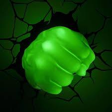 3dlightfx Marvel Avengers Hulk Fist 3d Deco Light 816733002194 Upc 3 D Light Fx Marvel Hulk Right Fist 3 D