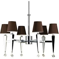 af lighting 6779 6 light chrome chandelier with chocolate shades