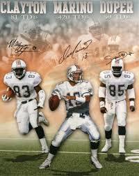 Miami Dolphins - Dan Marino, Mark Duper, Mark Clayton Autographed ...