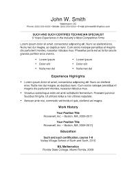 sample resume templates word 7 free resume templates primer ideas