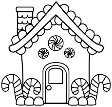 Small Picture Gingerbread house coloring pages with candy cane ColoringStar