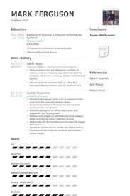 Game Tester Resume samples
